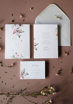 Floral 2019 botanical watercolor wedding invitations by Love Prints We ship worl. Floral 2019 botanical watercolor wedding invitations by Love Prints We ship worldwide:] STEP-BY-STEP INSTRUCTIONS and PH. Wedding Invitation Layout, Invitation Floral, Botanical Wedding Invitations, Wedding Invitations Online, Country Wedding Invitations, Watercolor Wedding Invitations, Wedding Stationary, Invite, Party