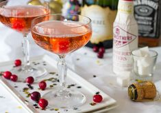BevMo!'s recipe for a Whiskey Champagne cocktail on Evite Gatherings.