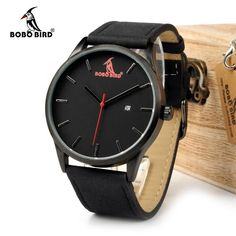 88d7763de5b ... clock canvas Suppliers  BOBOBIRD 2016 Top Luxury Brand Casual Quartz  Watches Business Military Men Watches Leather relogio masculino Leather  Strap Clock