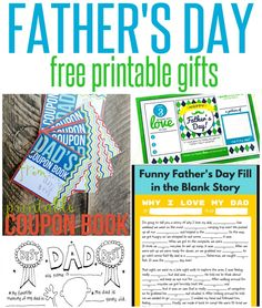 If you're on the hunt for a sentimental gift idea for Dad for Father's Day, look no further! All you have to do is print these DIY gifts and then have fun personalizing them with the kids!