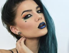 I did this look for Halloween as a witch and I thought it looked pretty awesome :) I love Kat Von D makeups