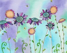 Daisy June Moon Cookie Gallery Print by mooncookiegallery on Etsy