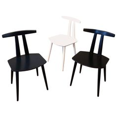 Danish Modern Lacquered Side Chairs by Folke Palsson for FDB Mobler 1