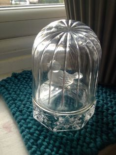 Vintage Hofbauer Byrdes Crystal Frosted Bird Clear Cage Retro Collector *mothers  | eBay