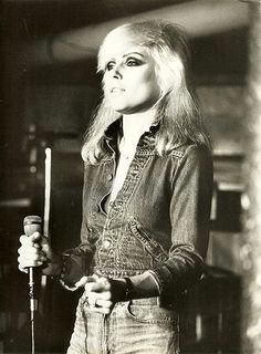 Blondie - Debbie Harry in Denim #jeans #styleiconindenim #jigsawclothing @jigsawclothing