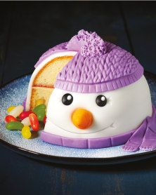 Christmas Food How cute is this Snowman Cake from Aldi