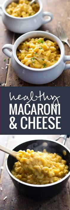 Healthy Mac and Cheese - A classic dish made with butternut squash for a healthy twist! Full of cheese and flavor   pinchofyum.com