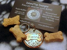 Specializing in handmade custom ID tags for pets and personalized hand stamped pendants for people. Handmade pendants in beautiful North Carolina.