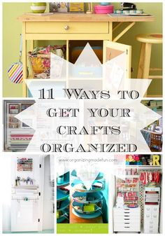 I don't have a lot of craft supplies but this site has a lot of great ideas. 11 Ways to get your crafts organized Bookcase Organization, Scrapbook Organization, Craft Organization, Scrapbook Storage, Craft Room Storage, Craft Rooms, Storage Ideas, Paper Storage, Storage Solutions