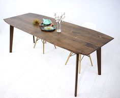 Custom Made Santa Barbara, Mid Century Modern, Dining Table