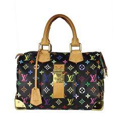 Louis Vuitton Black Multicolor Speedy