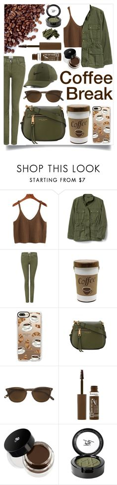 """Coffee Break"" by natalielikesshopping ❤ liked on Polyvore featuring Current/Elliott, Casetify, Marc Jacobs, Garrett Leight, NIKE, Rimmel, Lancôme, Beauty Is Life and Bobbi Brown Cosmetics"