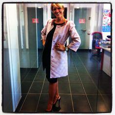 La giacca che indosso e' di Alessandra Ciani Cuture