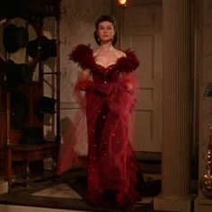 Vivien Leigh's brazenly defiant, magnificently feathered extravaganza from Gone with the Wind.