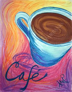 Beautiful coffee original artwork $95