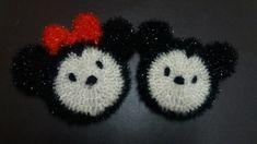 [캐릭터 수세미] 미키마우스 & 미니 마우스 수세미 뜨기(호빵 수세미 응용 도안) : 네이버 블로그 Ornament Crafts, Christmas Tree Ornaments, Crochet, Character, Christmas Tree Toppers, Ganchillo, Crocheting, Knits, Christmas Decor