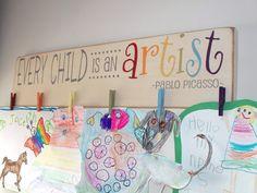 Chaque enfant est Art Display Board bois Brag par primsnposies