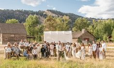 Actress Gabrielle Anwar and restaurateur Shareef Malnik tied the knot in an intimate outdoor ceremony in Montana.