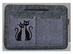 """Taschenorganizer Handtaschenordner Handtaschen Organizer Tasche Organizer Filz Grau """"Black Cat`s"""""""