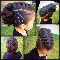Beautiful hair creation for your little fashionista! Baby Girl Hairstyles, Mohawk Hairstyles, Princess Hairstyles, Pretty Hairstyles, Children Hairstyles, Toddler Hairstyles, School Hairstyles, Hairdos, Girl Hair Dos