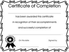 certificates of completion templates - Google Search | Teaching ...
