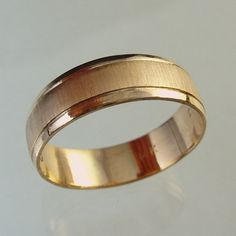 man wedding band woman wedding band recycled gold wedding band made to order ringmanmengold ring - Gold Wedding Rings For Men
