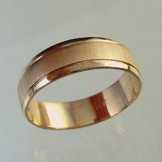 man wedding band woman wedding band recycled gold wedding band made to order ringmanmengold ring