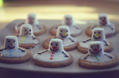 Melted snowman biscuits. Clickable!