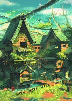 House, JAY KIM on ArtStation at https://www.artstation.com/artwork/DO9Wn