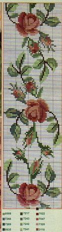 Layette Cross Stitch by Nubia Cortinhas: floral cross stitch chart Cross Stitch Love, Cross Stitch Bookmarks, Cross Stitch Cards, Cross Stitch Borders, Cross Stitch Flowers, Cross Stitch Designs, Cross Stitching, Cross Stitch Embroidery, Cross Stitch Patterns