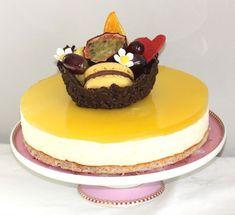 Ostekake med pasjonsfrukt - Bakeprosjektet Pudding Desserts, Cheesecake, Food And Drink, Sugar, Baking, Cakes, Pineapple, Cake Makers, Cheesecakes