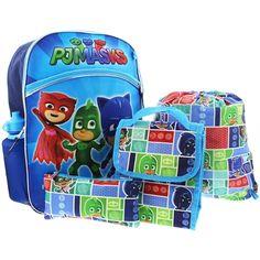 dbdf3400f29c PJ Masks 5 piece Backpack School Set