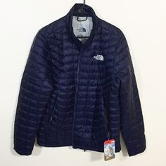 "The Northface Thermoball Jacket ""Love means never let him shiver in the cold again"".                                                                       New With Tags. Men's Medium. Cosmic Blue. 100% satisfaction. Free return, if not satisfied. The North Face Jackets & Coats Puffers"