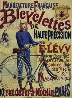 BICYCLE VINTAGE AD POSTER Howe RARE HOT NEW