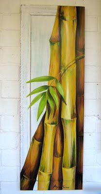 Fabric Painting, Painting On Wood, Image Zen, Bamboo Art, Tropical Art, Japanese Art, Painting Inspiration, New Art, Amazing Art