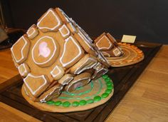 Gingerbread Companion Cube. (But wheres the cake?! Isn't there going to be cake?)