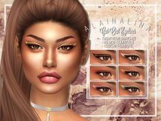 The Sims 4 najlepsze mody do gry: Wycinany eyeliner od Alaina Lina The Sims 4 Skin, The Sims 4 Pc, Sims 4 Mm, Sims 4 Mods Clothes, Sims Mods, Maxis, Sims 4 Cc Folder, Sims 4 Nails, Sims 4 Piercings