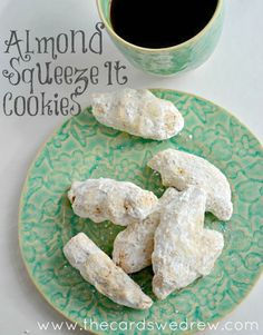 Almond Squeeze-It Cookies- Holiday Baking Recipe - The Cards We Drew