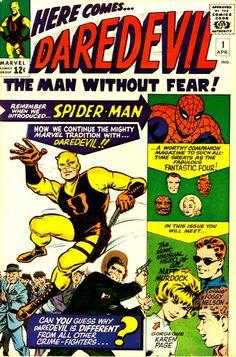 Tapa del primer comic de Daredevil (1964)COMIC daredevil 1 #comic #cover #art