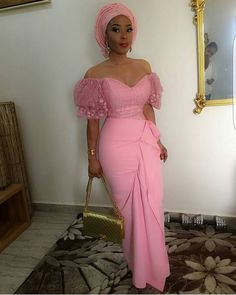 Aso ebi lace gown styles beautiful Aso ebi Long go… Diyanu - Aso Ebi Styles Lace Gown Styles, Aso Ebi Lace Styles, African Lace Styles, African Lace Dresses, Latest African Fashion Dresses, African Print Fashion, Nigerian Dress Styles, Ankara Dress Styles, African Traditional Dresses