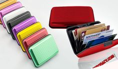 39 AED for Stylish Aluminum Wallet for Men & Women. ID theft resistant + Crush resistant + Water resistant, protect your credit cards. Delivery available anywhere across the UAE!