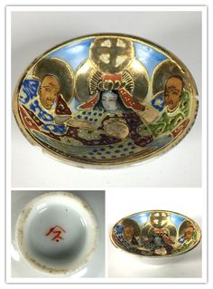 Japanese Satsuma style porcelain sake cup.