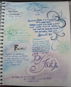 creative disaster: Scripture Art Journal... I like the idea of this