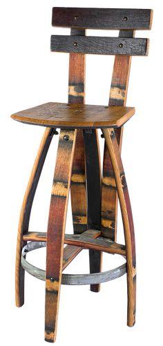 Vinoture   Reclaimed Wine Barrel Furniture     Allison Chair #WineBarrel