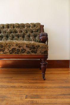 Antique+Tufted++ Settee.  $1,200