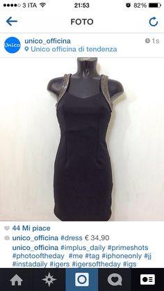 Tubino nero con particolare sulle spalle € 34,90 #unico_officina #unicotorino #torino #turin #fashion #abbigliamento