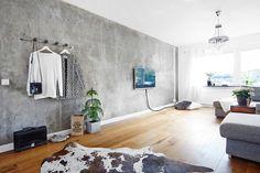 västanhem inspirerande hem betongvägg inredning inspiration trenspanarna.nu