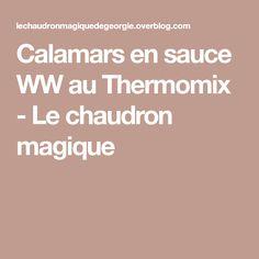 Calamars en sauce WW au Thermomix - Le chaudron magique