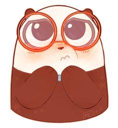 we bare bear - panda Animals And Pets, Baby Animals, Cute Animals, Amor Panda, Anime Bebe, We Bare Bears Wallpapers, 3 Bears, Bear Wallpaper, Cute Animal Drawings