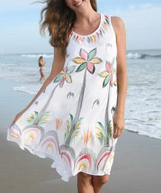 Look what I found on #zulily! White Floral Shift Dress - Women by Ananda's Collection #zulilyfinds
